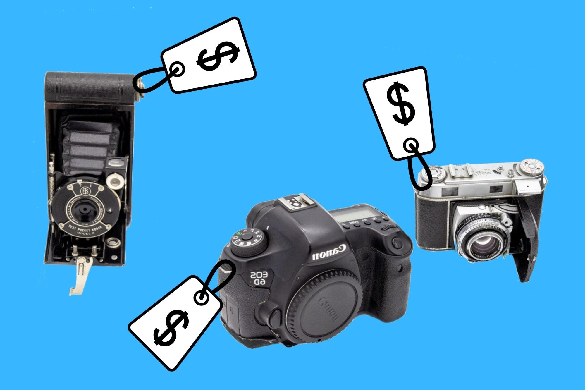 Sell Used Cameras price tag