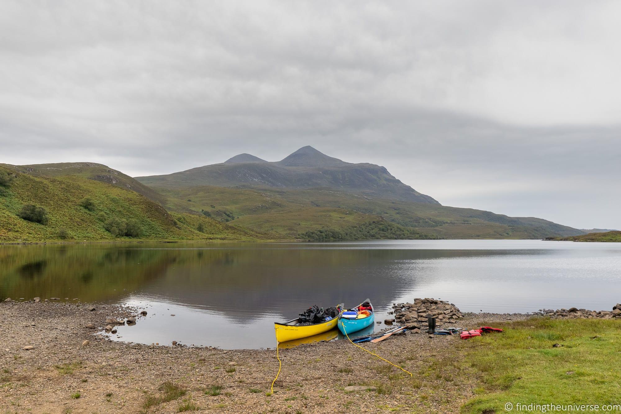Suilven Hike Canoe Trip Hamlet Mountaineering